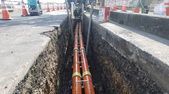 電線埋設工事
